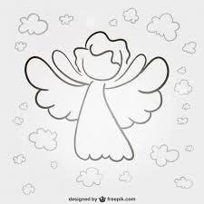 Malvorlagen Engel Einfach