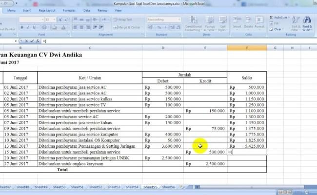 Tutorial Program Keuangan Sederhana Dari Excel Cute766