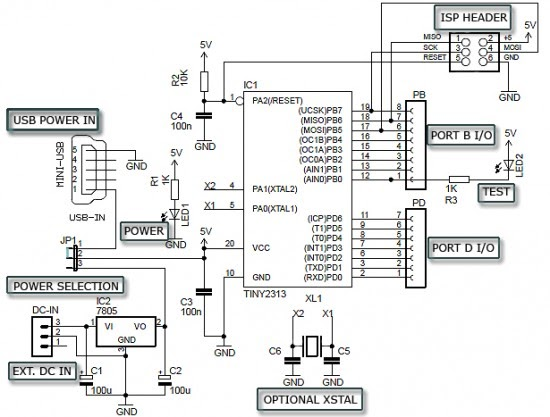 circuit board diagram development board circuit