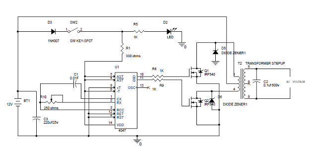100w Inverter Circuitspf1