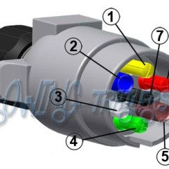7 Pin Trailer Wiring Diagram Australia Three Way Dimmer Easternmarine Pole Blade Plugcable | Circuit Harness