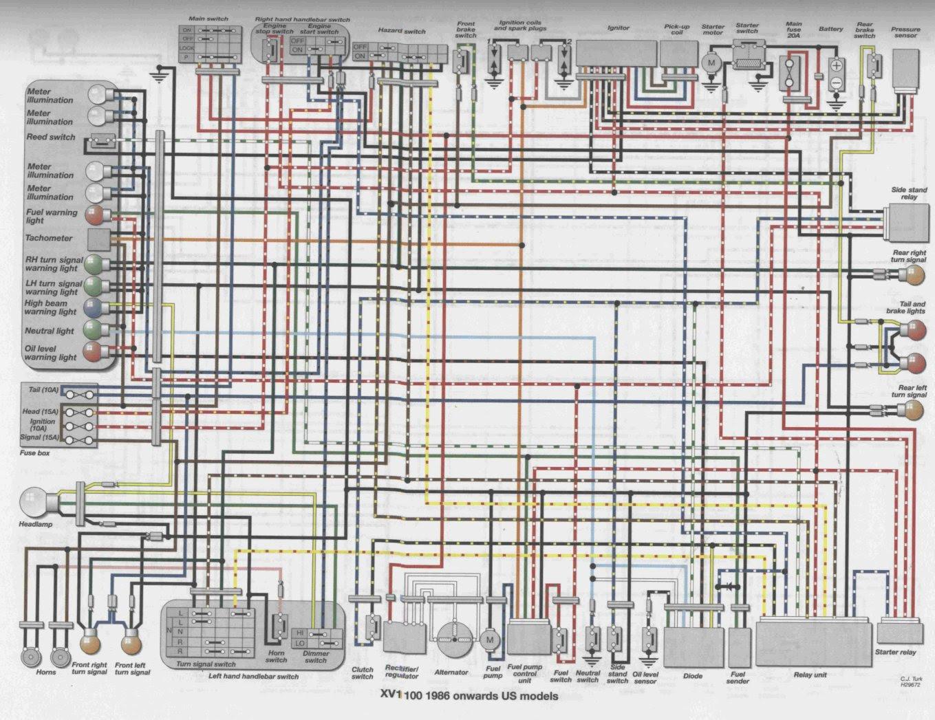 hight resolution of virago xv700 wiring diagram flasher relay