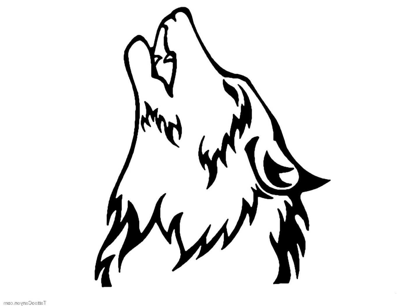 Wolf Ausmalbild