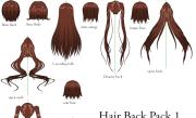 anime ponytail hairstyle - damen