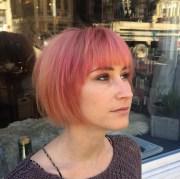 short pink bob hairstyles