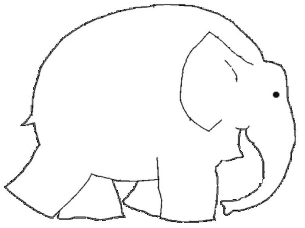 Ausmalbilder Elefant Elmar