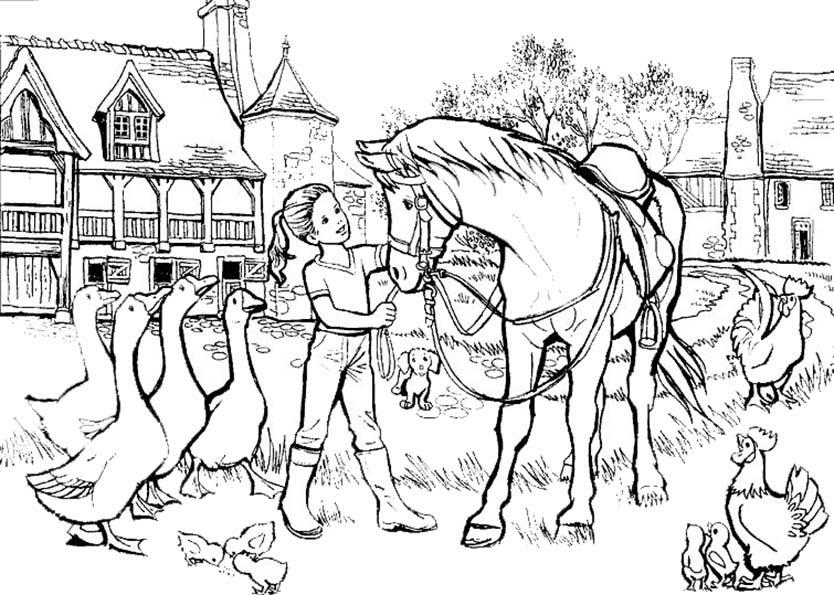Malvorlagen Pferde Gratis Ausdrucken - Kinder zeichnen und