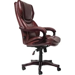 Serta Bonded Leather Executive Chair Living Room Arm Brown Big And Tall Office
