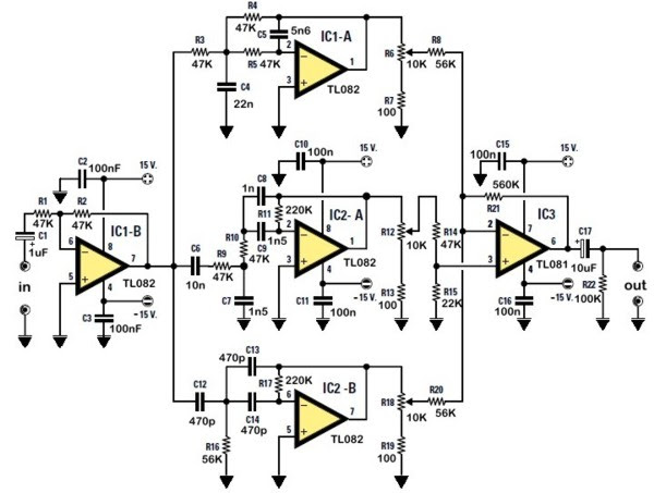 treble tone control circuit diagram