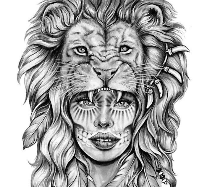 35 Tattoo Vorlagen Löwenkopf - Besten Bilder von ausmalbilder