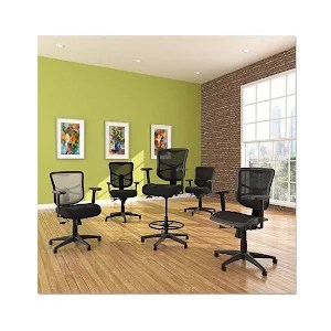 alera elusion chair office plastic series black mesh high back multifunction