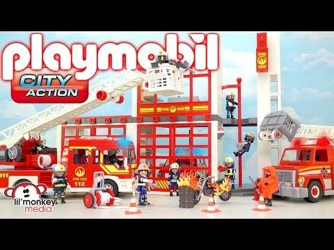 Ausmalbilder Feuerwehr Playmobil - Kinder färben