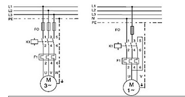 aro schema moteur asynchrone monophase