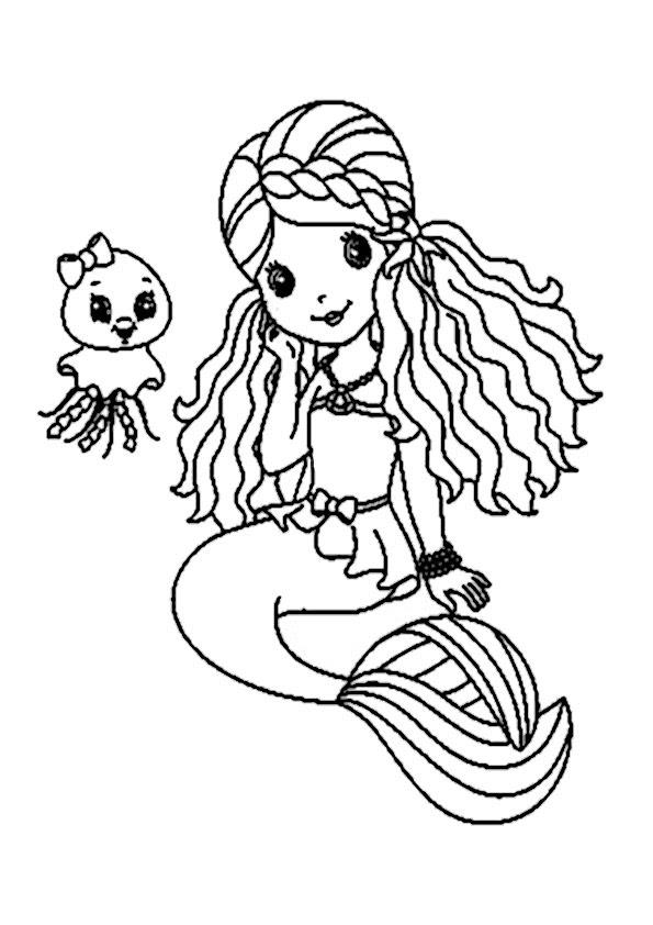 Meerjungfrau Malvorlagen Kostenlos Ausdrucken