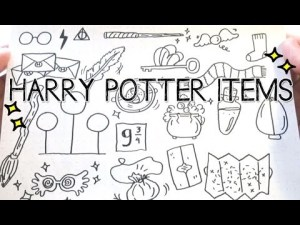 potter harry drawings doodles doodle things items hogwarts coloring pages easy journal christmas bullet sketches sheets colouring doodling hp printable