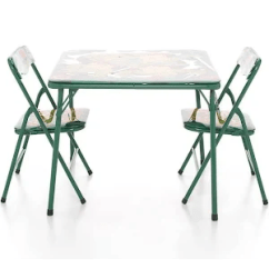 Ninja Turtles Chair Best Office For Back Nickelodeon 3 Piece Teenage Mutant Table Set