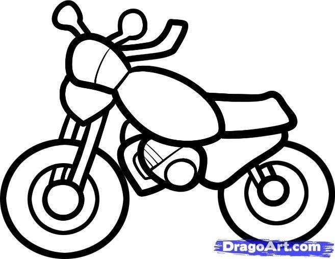 Malvorlage Motorrad Einfach Aglhk