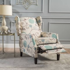 Christopher Knight Club Chair Electric Execution Procedure Wescott Wingback Floral Fabric Recliner By Home