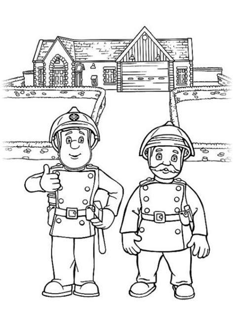 Malvorlagen Gratis Feuerwehrmann Sam - Kostenlose