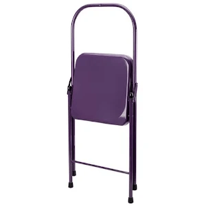 folding metal yoga chair armless computer everyday tall backless plum google express