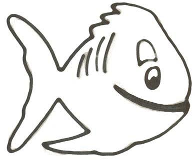 Malvorlage Fisch Einfach Kostenlos
