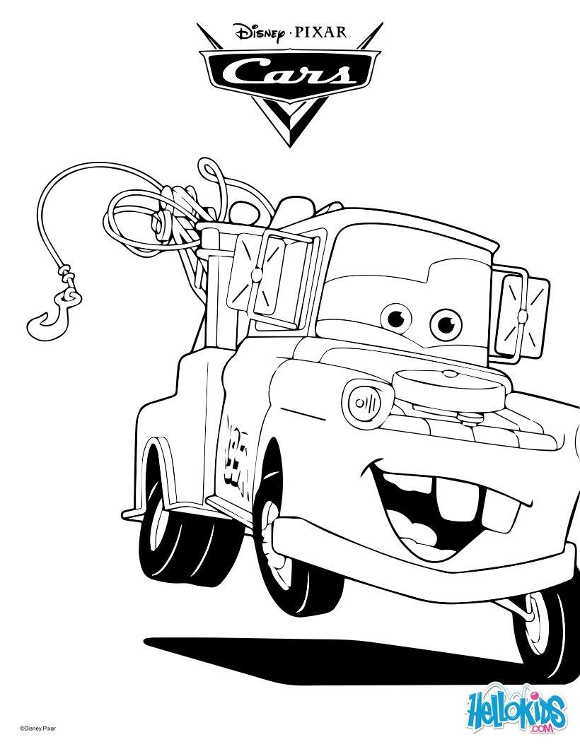 Ausmalbilder Cars Hook Top Kostenlos Färbung Seite