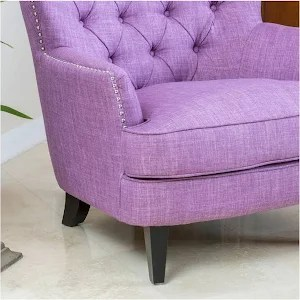 tafton club chair covers for hire near me christopher knight home tufted fabric purple