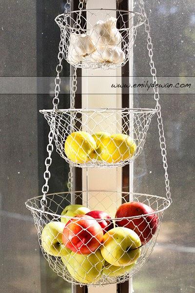 hanging kitchen basket Emily DeWan Photography, Inc.: hanging basket of fruit