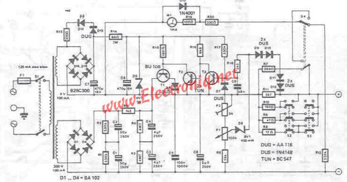 modern home stereo amplifier wiring diagram