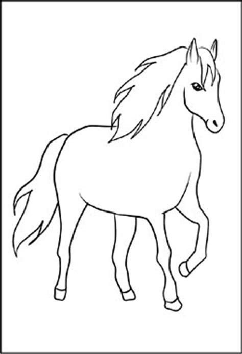 Malvorlage Steigendes Pferd - Kostenlose Malvorlagen Ideen