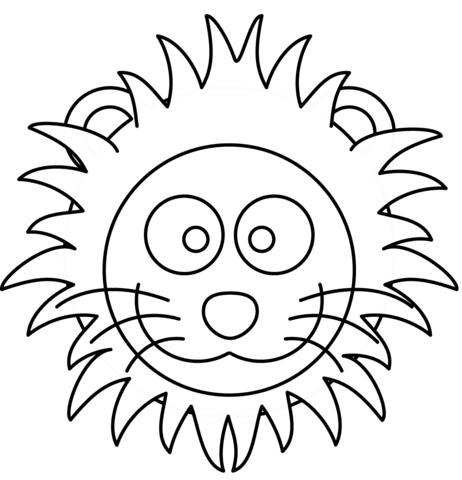 Ausmalbild Lowenkopf Malvorlage - Cartoon-Bild