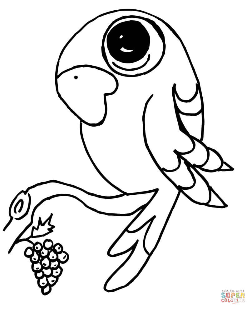 39 Papagei Zeichnen Vorlagen - Besten Bilder von ausmalbilder