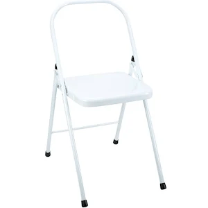 folding metal yoga chair staples task parts everyday tall backless white google express