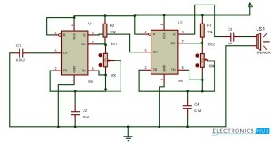 555 Ding Dong Circuit   Circuit Diagram Images
