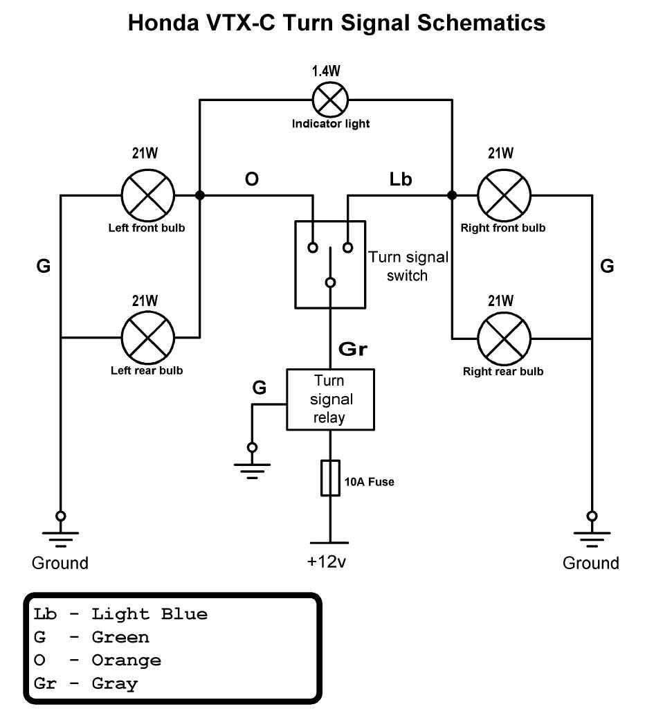 wiring diagram for motorcycle turn signals