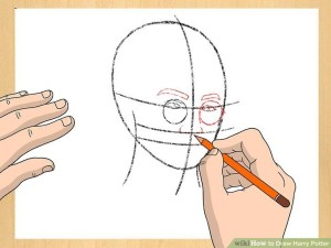 potter harry draw step drawings easy cartoon character steps wikihow coloring pages