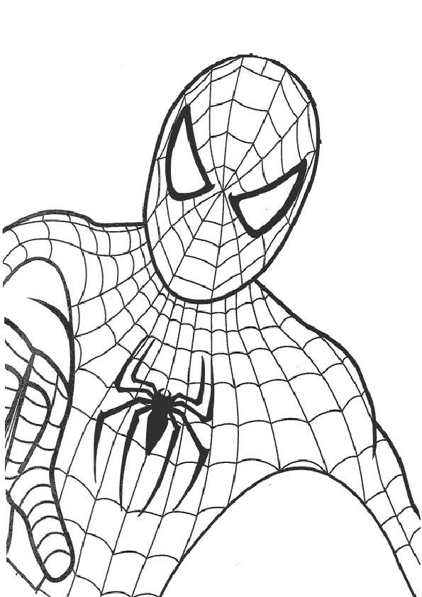 Ausmalbilder Drucken Spiderman