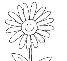 Kostenlose Malvorlage Blumen Blume zum Ausmalen zum ...