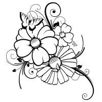 Frisch Ausmalbilder Blumen Gratis   Top Kostenlos Färbung ...