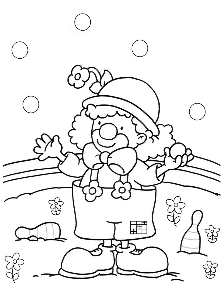 Malvorlagen Karneval Clown - x13 ein Bild zeichnen