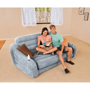 intex ultra lounge chair and ottoman yoga office queen inflatable pullout sofa airbed with