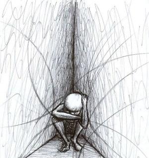 depression sad easy drawing