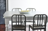 She's crafty: Gray and White painted kitchen table