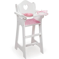 Badger Basket High Chair Heavy Duty Computer 10193 Doll Dining Set