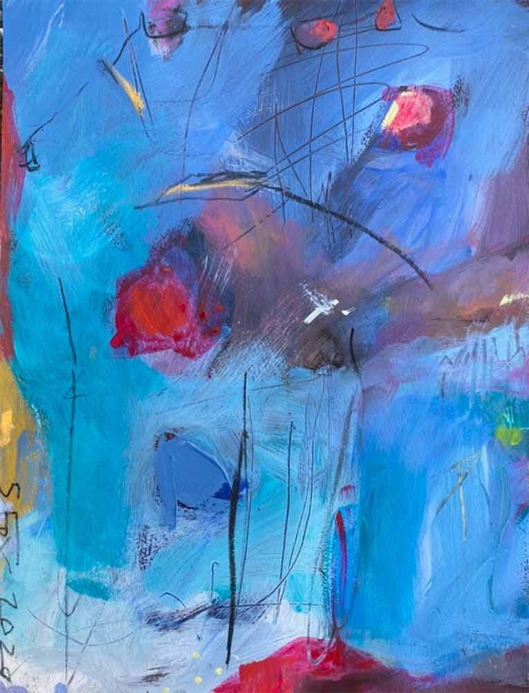 Painting: Postcard – Morning in Riverside Park