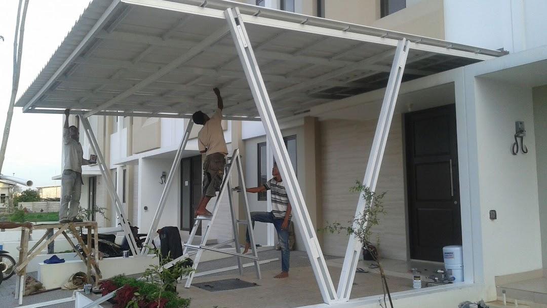 kanopi baja ringan vs besi hollow dan melayani pemasangan