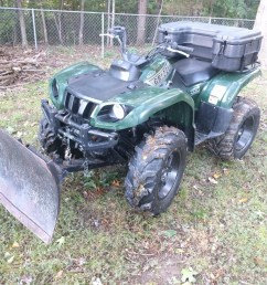 it is a 2002 yamaha grizzly 660 with 14 itp mud lites and a plow i got a box fender flares and replaced the grips so far  [ 1024 x 768 Pixel ]