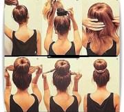 easy hairstyle tutorial - step