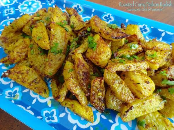 Roasted Curry Daikon Radish Recipe Just A Pinch Recipes