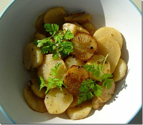 Turnips with Mustard and Chervil